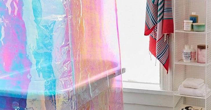Iridescent Shower Curtain Popsugar Home