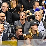 Matthew Perry was in attendance at the LA Kings Stanley Cup finals game in LA.