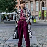 Style Your Leopard-Print Coat With: A Blouse, Trousers, and Heels