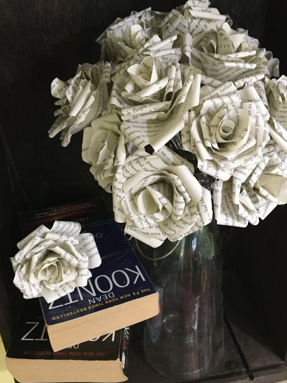 Paper flowers uses for old books popsugar smart living photo 4 paper flowers mightylinksfo