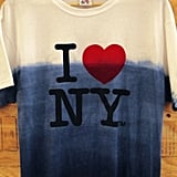 """OK, this t-shirt isn't officially """"on sale,"""" but we had to include this Sebastian Errazuriz """"I Still Love NY"""" Hurricane Sandy relief t-shirt ($40) in our roundup. One hundred percent of all proceeds goes to the Hurricane Sandy relief fund."""