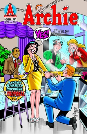 Archie Proposes to Veronica in Latest Issue of Archie Comics
