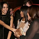 Corinne Bishop and Kerry Washington