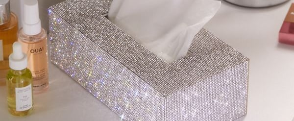 Rhinestone Tissue Box Cover From Urban Outfitters