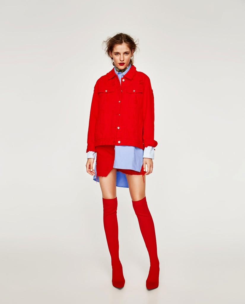 Zara Colored Denim Jacket