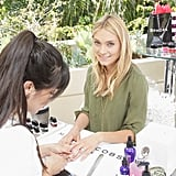 Spencer Grammer got a manicure before the show, courtesy of Marc Jacobs Beauty. Source: Instagram user marcbeauty