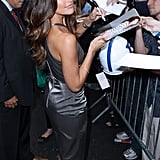 Minka Kelly at David Letterman.