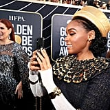 Pictured: Debra Messing and Janelle Monáe