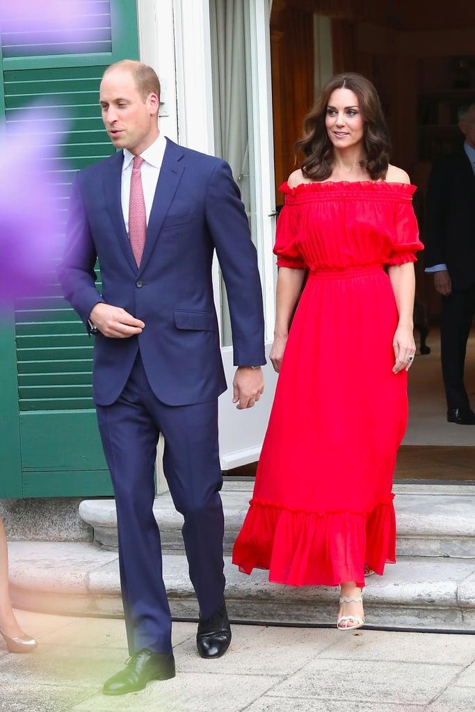Duchess of Cambridge Red Alexander McQueen Maxi Dress