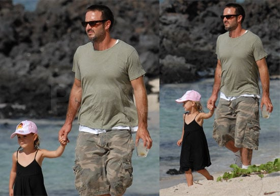 Photos of David Arquette and Coco Arquette on Vacation in Hawaii