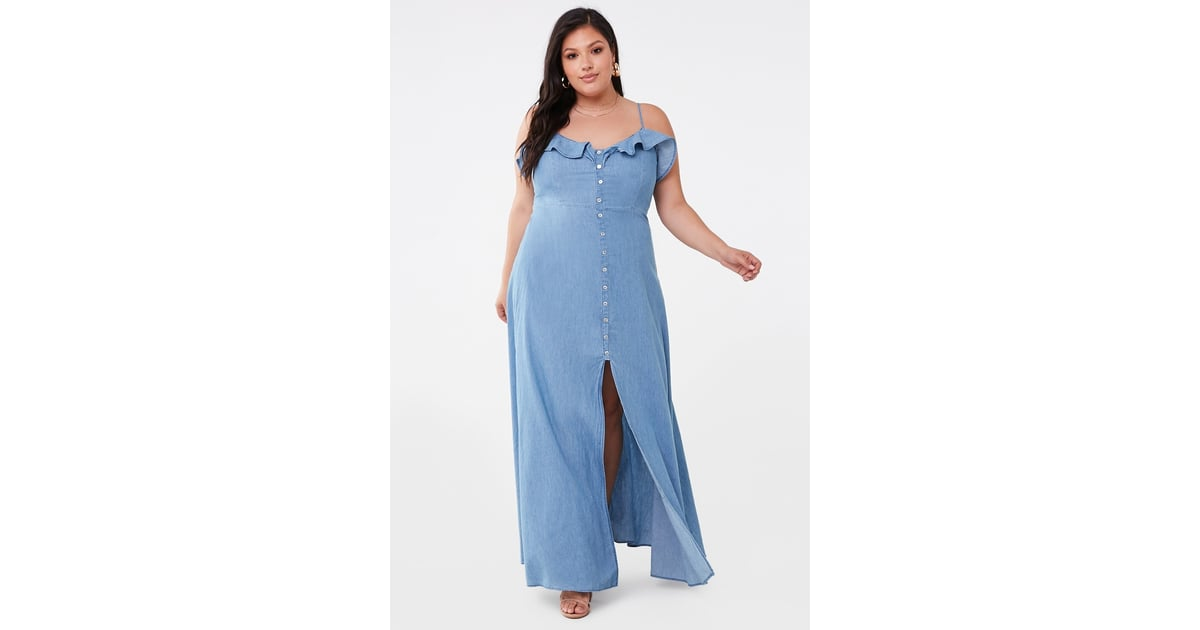 b3e881c3 Plus-Size Chambray Maxi Dress | Best Summer Dresses From Forever 21 |  POPSUGAR Fashion Photo 13