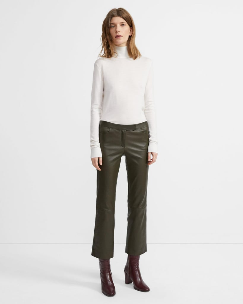 Theory Leather Crop Pant