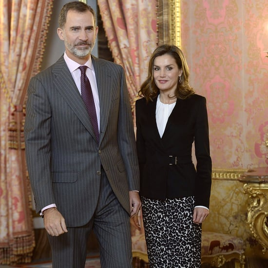 Queen Letizia Leopard Skirt