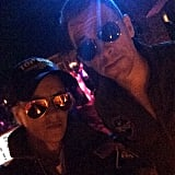 """Samantha Ronson's look was inspired by Top Gun. """"Take my breath away,"""" she wrote in the caption."""