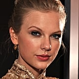 Taylor Swift had her hair up for the Grammys.