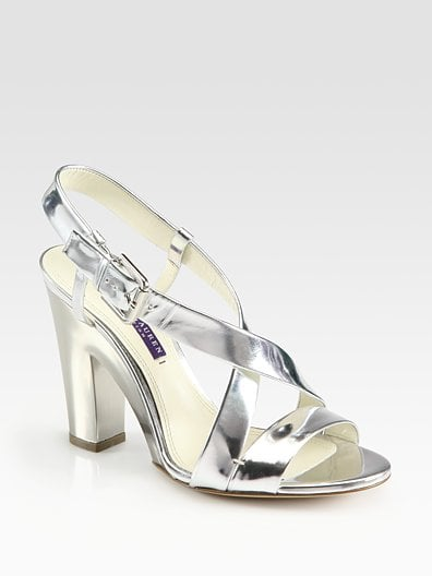 Ralph Lauren Nakita Metallic Leather Slingback Sandals ($625)