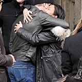 Matt Damon and Luciana Barroso Walking in Berlin