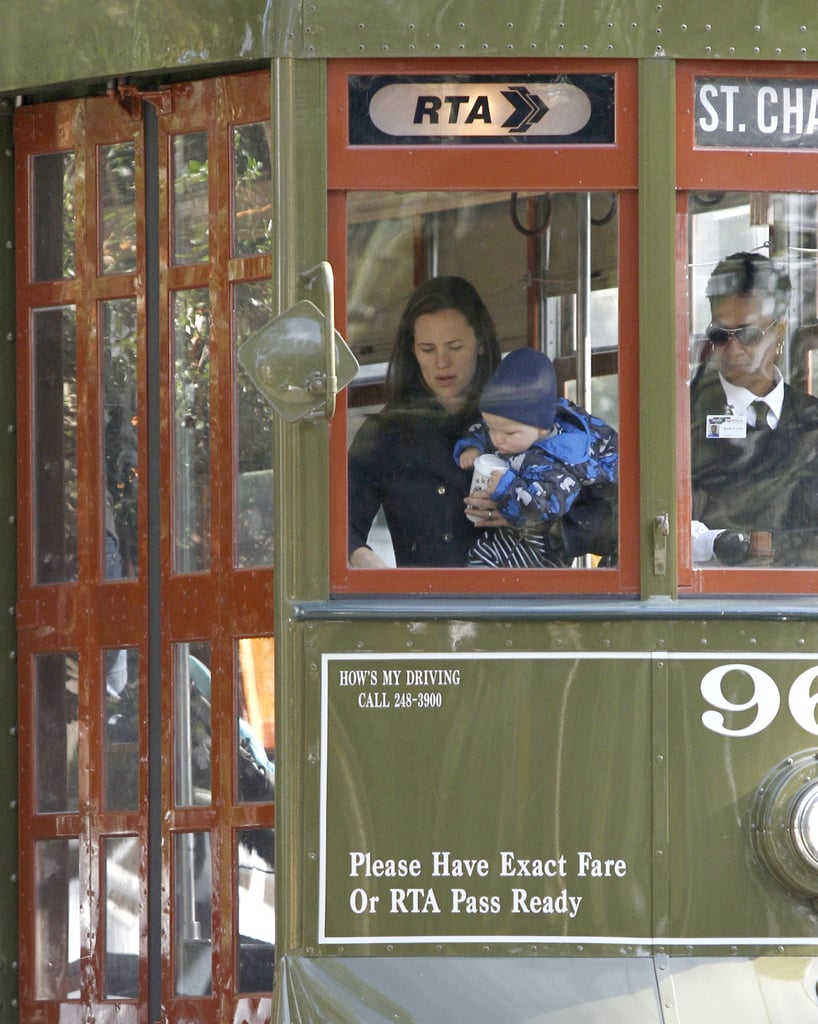 Jennifer Garner and Samuel Affleck went on a trolley ride in New Orleans.