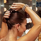 Step 2: Twist hair up.
