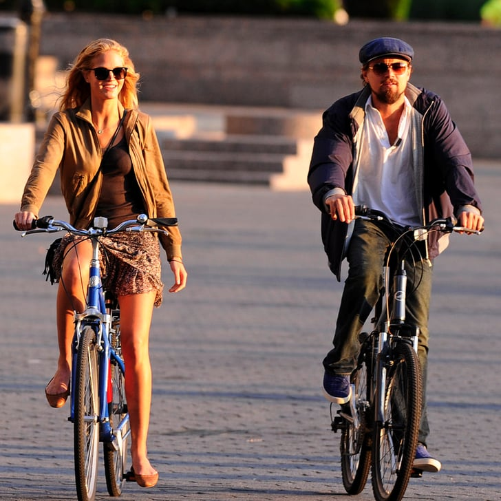 Leonardo DiCaprio and Erin Heatherton Pictures on Bikes