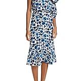 Saloni Juliet One-Shoulder Silk Dress