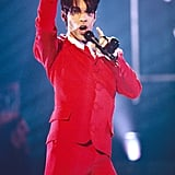 Prince looked festive during the VH1 Fashion and Music Awards in December 1995.