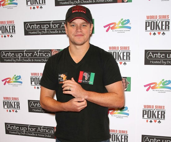 Slide Picture of Matt Damon at Poker Tournament in Las Vegas