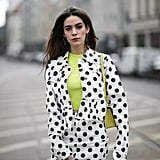 Mix in neon with polka dot for an electric spin.