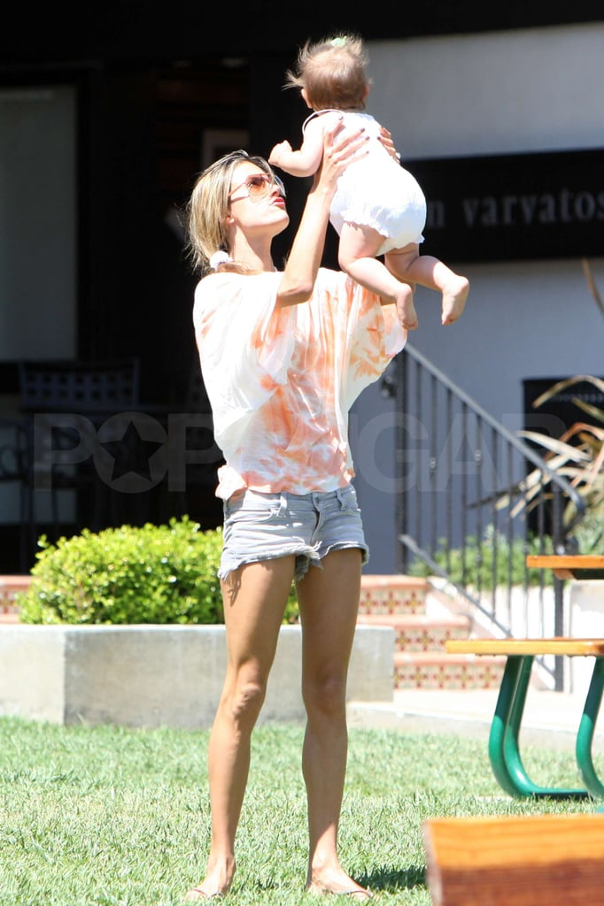 Photos of Alessandra Ambrosio in a Bikini With Her Family
