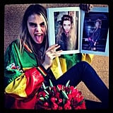 Cara Delevingne got meta while showing off one of her recent editorials. Source: Instagram user caradelevingne