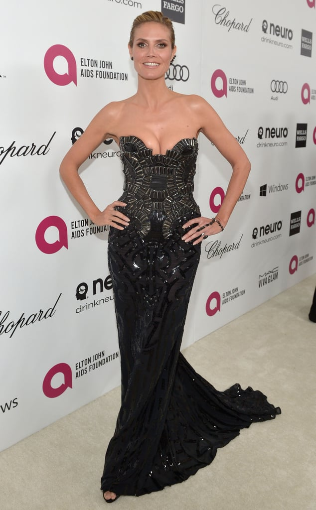 Heidi Klum at the 2014 Annual Elton John AIDS Foundation Academy Awards Viewing Party