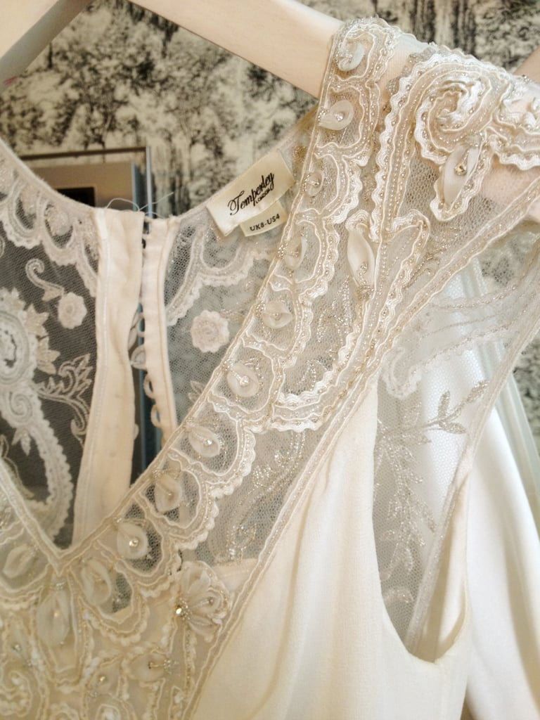 Beautiful lace embroidery detail.