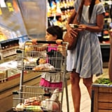 Katie Holmes and Suri Cruise went grocery shopping together at Whole Foods in NYC.
