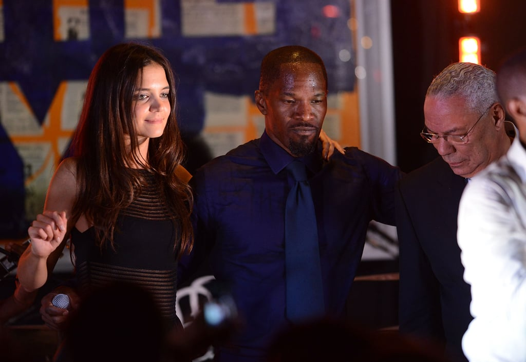 Jamie Foxx got Katie Holmes to bust a move with him on the dance floor at the Apollo Theater fete in East Hampton in August.