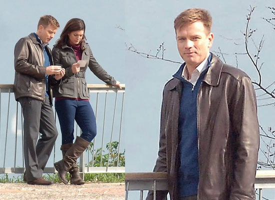 Photos of Ewan McGregor on Knockout Set