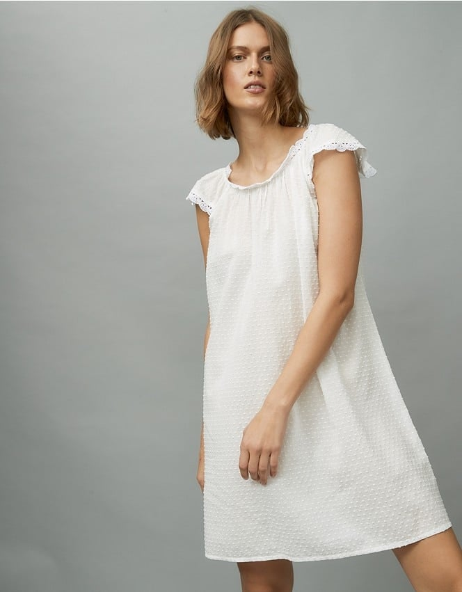 The White Company Cotton Broderie Nightgown