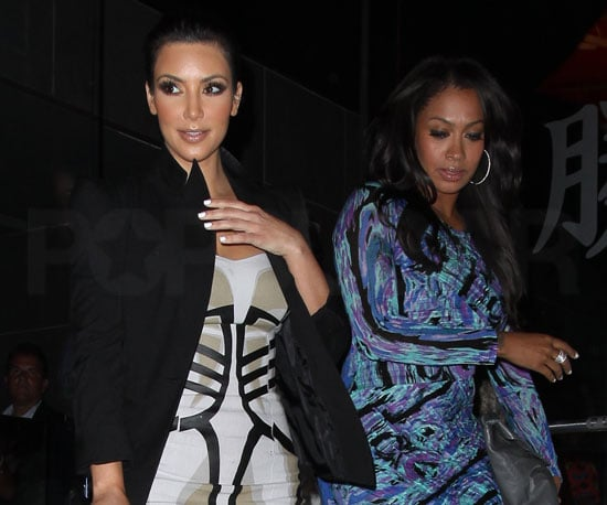 Slide Picture of Kim Kardashian and LaLa Vasquez at Katsuya