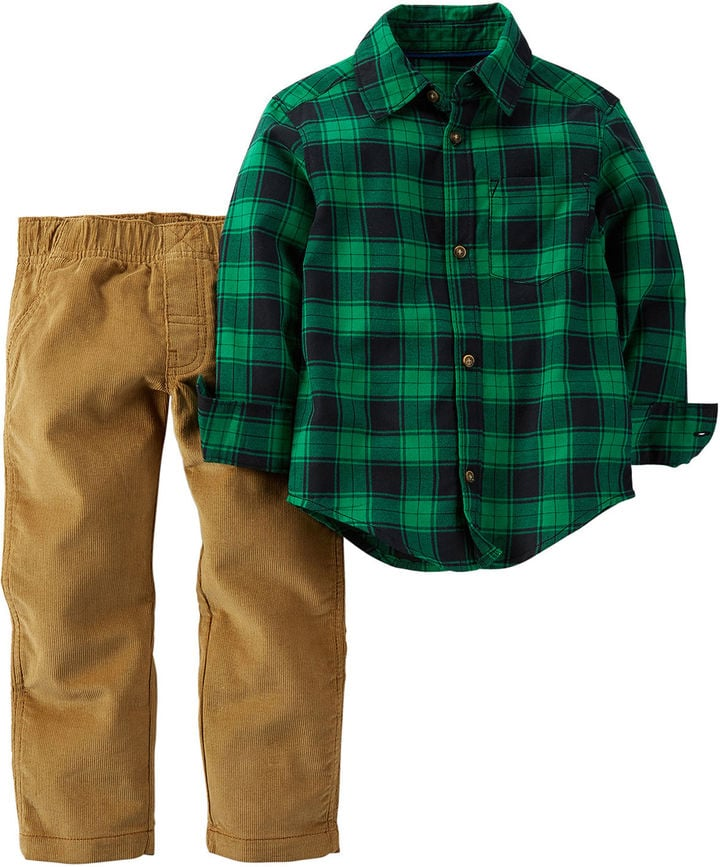 Carter's Plaid Shirt and Pants