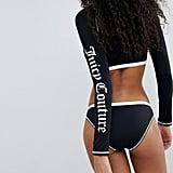 Juicy Couture Rash Suit Bikini Bottoms With Logo