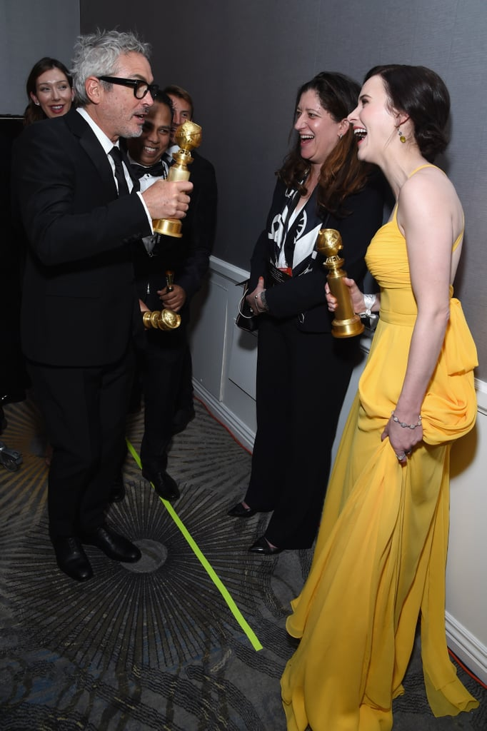 Pictured: Alfonso Cuaron and Rachel Brosnahan