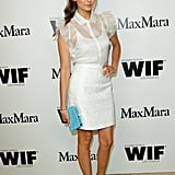 Nina Dobrev looked sweet in a white dress.