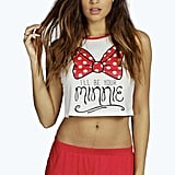 Minnie Bow Crop Vest and Short Set