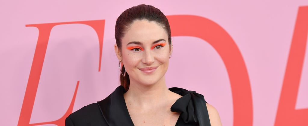 Shailene Woodley's Neon Orange Eye Shadow Trend