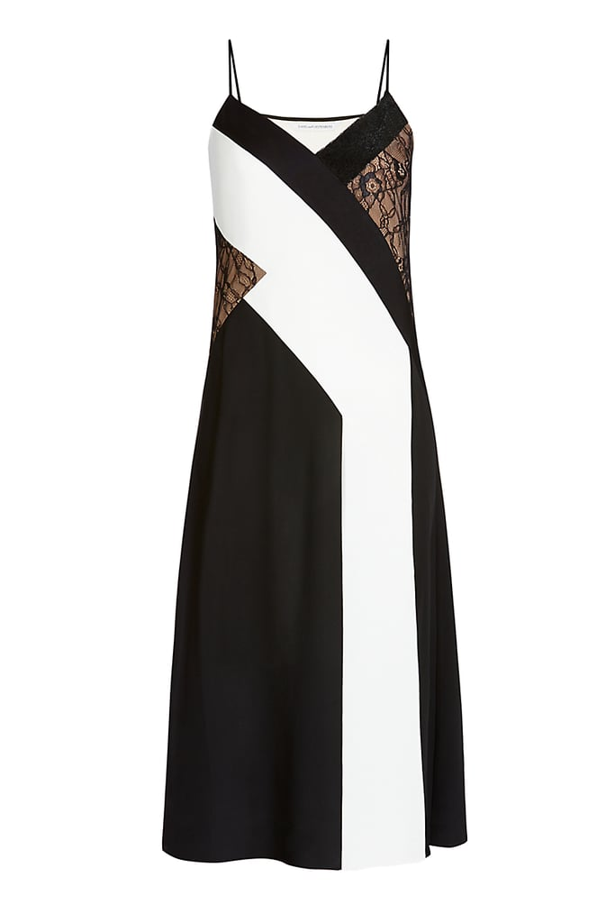 DVF 'Frederica' Embellished Silk and Lace Dress ($428)