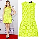 Did you love Chloë Moretz's neon dress at the People's Choice Awards? You're in luck — it just hit Net-a-Porter this week!