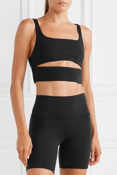Alo Yoga Slit Cutout Ribbed Stretch Sports Bra