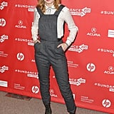 Brie Larson walked the red carpet at Sundance on Friday.