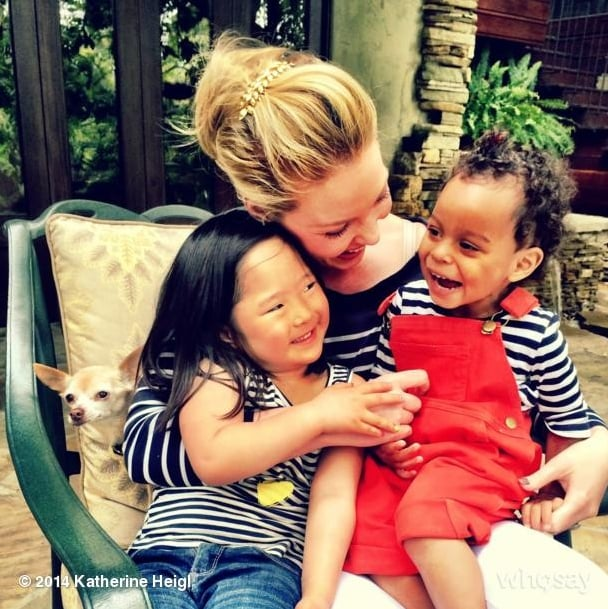 Katherine Heigl With Naleigh and Adelaide