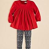Ralph Lauren Pleated Tunic & Print Leggings Set