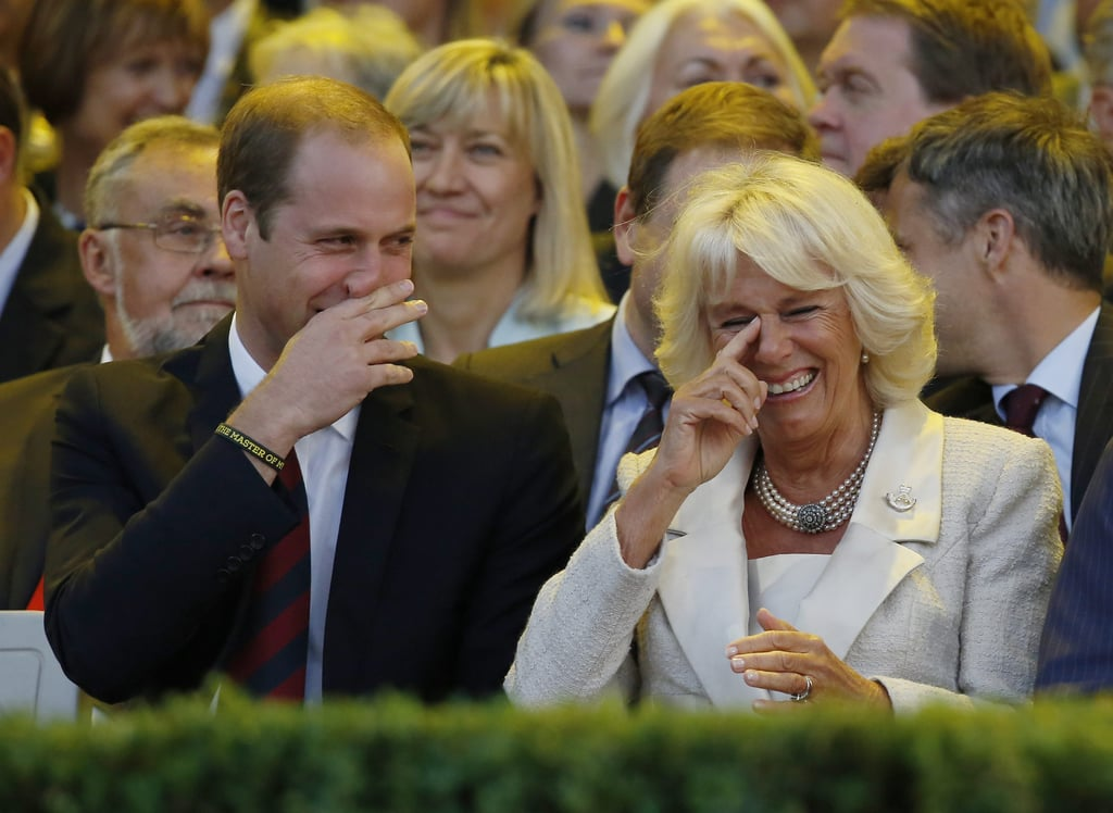 When Camilla Parker Bowles married Prince Charles in April 2005, she not only got a husband but also expanded her family. Camilla shares daughter Laura and son Tom with ex-husband Andrew Parker Bowles, and Charles has two sons, Prince Harry and Prince William, from his marriage to Princess Diana. The royal family often attends official events together, and while Camilla doesn't seem to have as much fun with William and Harry as she does with Kate, it appears the brothers have certainly accepted Camilla as their stepmother. Read on to see some of their best moments together.        Related:                                                                                                           How Well Do The Queen and Camilla Actually Get Along?